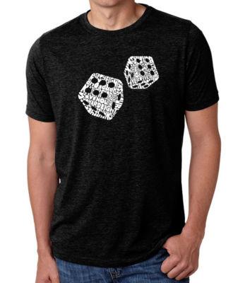 Los Angeles Pop Art Men's Big & Tall Premium Blend Word Art T-Shirt - Different Rolls Thrown In The game of Craps