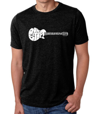 Los Angeles Pop Art Men's Big & Tall Premium Blend Word Art T-Shirt - Don't Stop Believin