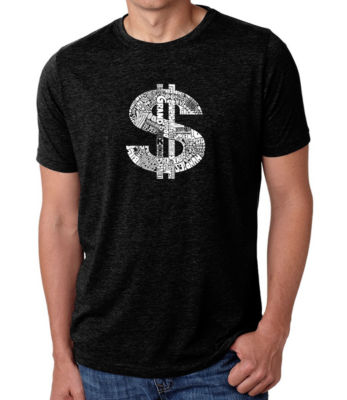 Los Angeles Pop Art Men's Big & Tall Premium Blend Word Art T-Shirt - Dollar Sign