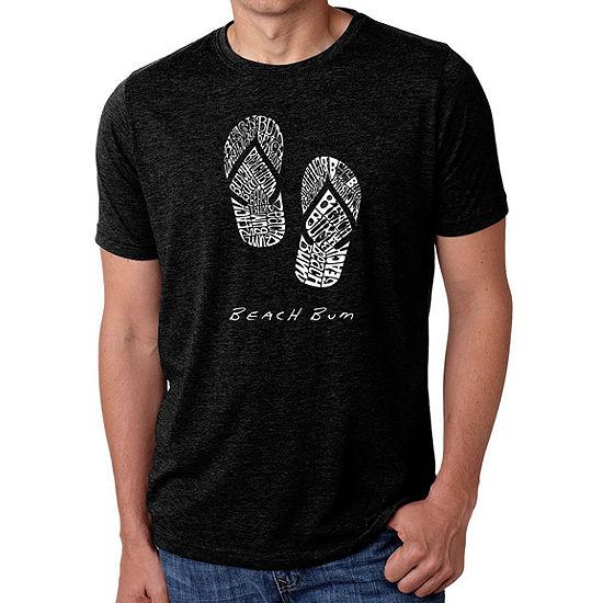 Los Angeles Pop Art Men's Big & Tall Premium Blend Word Art T-Shirt - Beach Bum