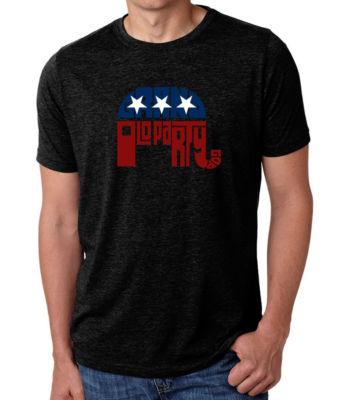 Los Angeles Pop Art Men's Big & Tall Premium Blend Word Art T-Shirt - Republican - Grand Old Party