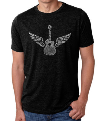 Los Angeles Pop Art Men's Big & Tall Premium Blend Word Art T-Shirt - Amazing Grace