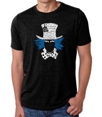 Los Angeles Pop Art Men's Big & Tall Premium Blend Word Art T-Shirt - The Mad Hatter
