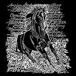 Los Angeles Pop Art Men's Big & Tall Premium Blend Word Art T-Shirt - Popular Horse Breeds