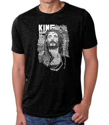 Los Angeles Pop Art Men's Big & Tall Premium Blend Word Art T-Shirt - Jesus