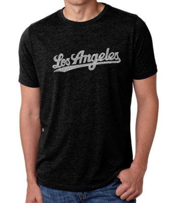 Los Angeles Pop Art Men's Big & Tall Premium Blend Word Art T-Shirt - Los Angeles Neighborhoods