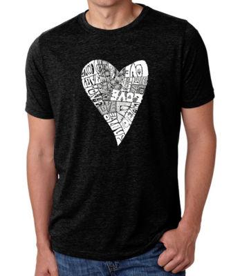 Los Angeles Pop Art Men's Big & Tall Premium Blend Word Art T-shirt - Lots of Love