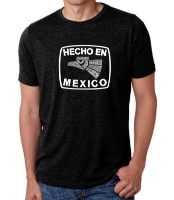 Los Angeles Pop Art Men's Big & Tall Premium Blend Word Art T-shirt - HECHO EN MEXICO
