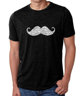 Los Angeles Pop Art Men's Big & Tall Premium Blend Word Art T-shirt - WAYS TO STYLE A MOUSTACHE