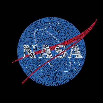 Los Angeles Pop Art Men's Big & Tall Premium Blend Word Art T-shirt - NASA's Most Notable Missions