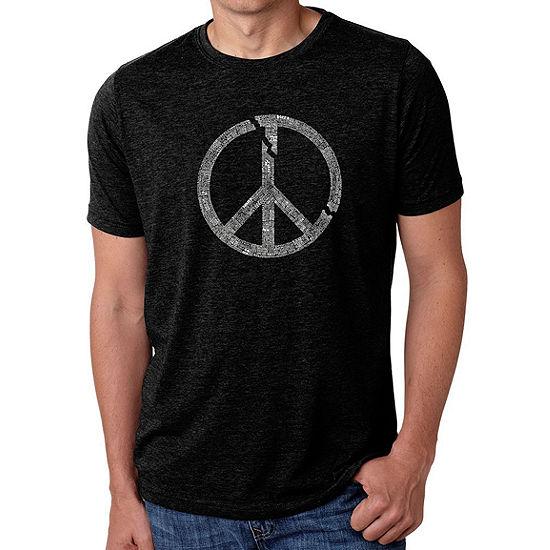 Los Angeles Pop Art Men's Big & Tall Premium Blend Word Art T-shirt - EVERY MAJOR WORLD CONFLICT SINCE 1770