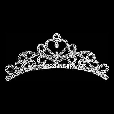 Los Angeles Pop Art Men's Big & Tall Premium Blend Word Art T-shirt - Princess Tiara