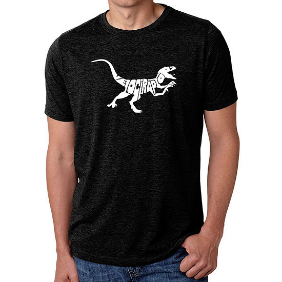 Los Angeles Pop Art Mens Big Tall Premium Blend Word Art T Shirt Velociraptor
