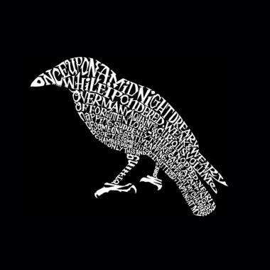 Los Angeles Pop Art Men's Big & Tall Premium Blend Word Art T-shirt - Edgar Allen Poe's The Raven