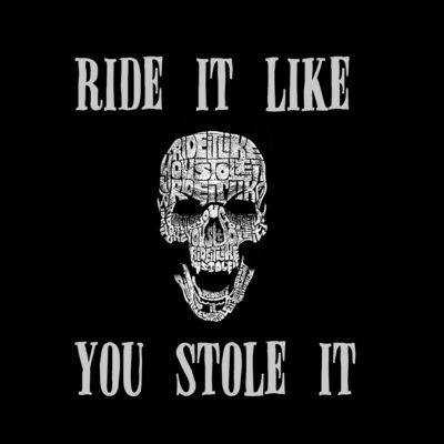 Los Angeles Pop Art Men's Big & Tall Premium Blend Word Art T-shirt - Ride It Like You Stole It