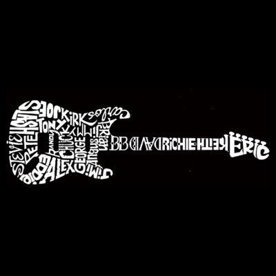 Los Angeles Pop Art Men's Big & Tall Premium BlendWord Art T-shirt - Rock Guitar