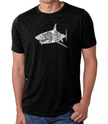 Los Angeles Pop Art Men's Big & Tall Premium Blend Word Art T-shirt - SPECIES OF SHARK