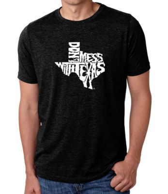 Los Angeles Pop Art Men's Big & Tall Premium Blend Word Art T-shirt - DONT MESS WITH TEXAS