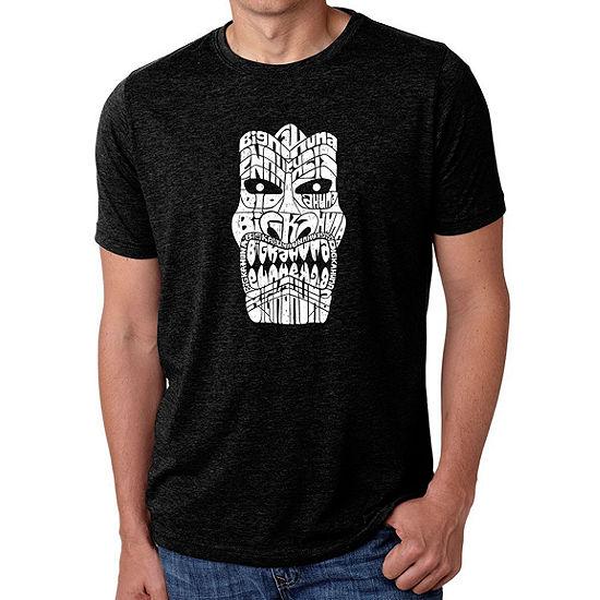 Los Angeles Pop Art Mens Big Tall Premium Blendword Art T Shirt Tiki Big Kahuna
