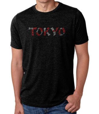 Los Angeles Pop Art Men's Big & Tall Premium Blend Word Art T-shirt - THE NEIGHBORHOODS OF TOKYO