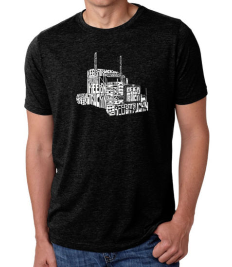Los Angeles Pop Art Men's Big & Tall Premium Blend Word Art T-shirt - KEEP ON TRUCKIN'