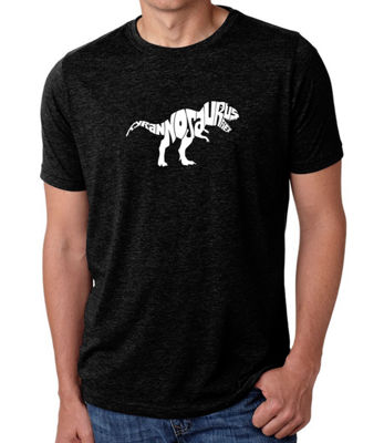 Los Angeles Pop Art Men's Big & Tall Premium Blend Word Art T-shirt - TYRANNOSAURUS REX