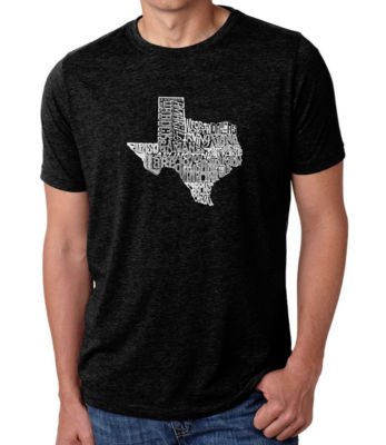 Los Angeles Pop Art Men's Big & Tall Premium Blend Word Art T-shirt - The Great State of Texas