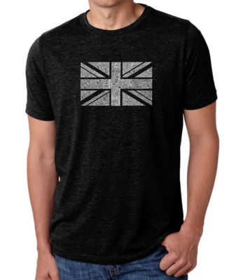 Los Angeles Pop Art Men's Big & Tall Premium Blend Word Art T-shirt - Union Jack
