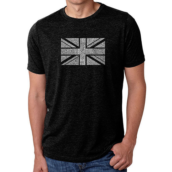 Los Angeles Pop Art Men's Big & Tall Premium Blend Word Art T-shirt - Union Jack