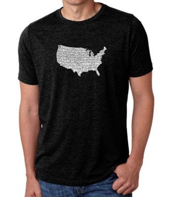 Los Angeles Pop Art Men's Big & Tall Premium Blend Word Art T-shirt - The Star Spangled Banner