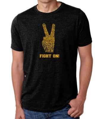 Los Angeles Pop Art Men's Big & Tall Premium Blend Word Art T-shirt - USC