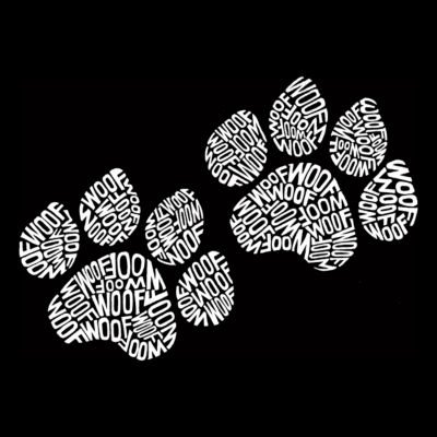 Los Angeles Pop Art Men's Big & Tall Premium Blend Word Art T-shirt - Woof Paw Prints