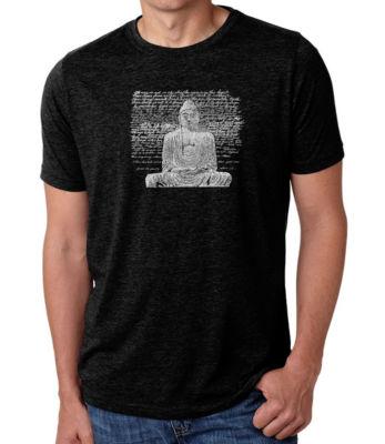Los Angeles Pop Art Men's Big & Tall Premium Blend Word Art T-shirt - Zen Buddha