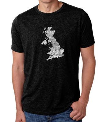 Los Angeles Pop Art Men's Big & Tall Premium Blend Word Art T-shirt - God Save The Queen