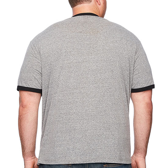Mens Crew Neck Short Sleeve Graphic T-Shirt-Big and Tall