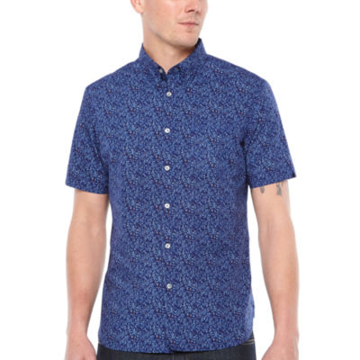 Jmco Short Sleeve Floral Button-Front Shirt