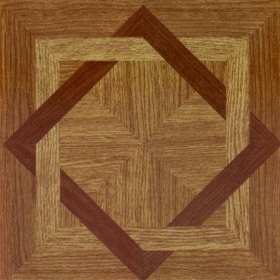 Tivoli Wood Diamond 12X12 Self Adhesive Vinyl Floor Tile - 45 Tiles/45 Sq. Ft.