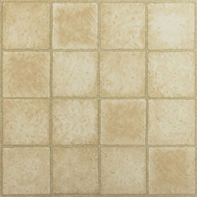 Tivoli 16 Square Sandstone 12X12 Self Adhesive Vinyl Floor Tile - 45 Tiles/45 Sq. Ft.