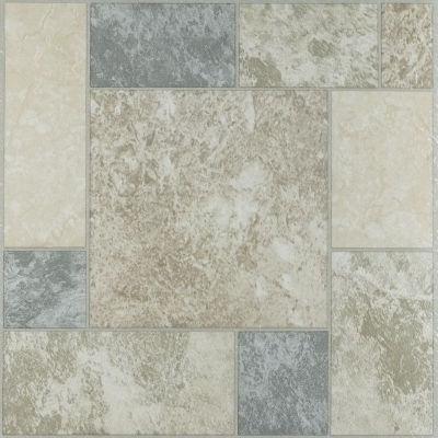 Tivoli Marble Blocks 12X12 Self Adhesive Vinyl Floor Tile - 45 Tiles/45 Sq. Ft.