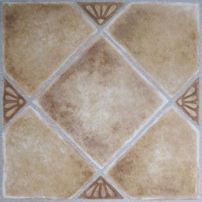 Tivoli Beige Clay Diamond With Accents 12X12 Self Adhesive Vinyl Floor Tile - 45 Tiles/45 Sq. Ft.