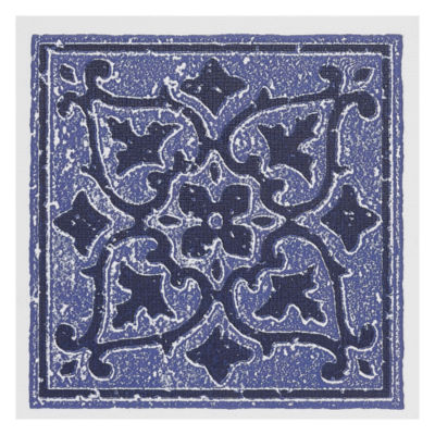 Nexus Accent Blue 4X4 Self Adhesive Vinyl Wall Tile - 27 Tiles/3 Sq Ft.