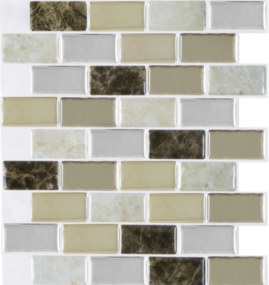 Magic Gel Bronze Granite 9.125X9.125 Self Adhesive Vinyl Wall Tile - 3 Tiles/2.25 Sq Ft.