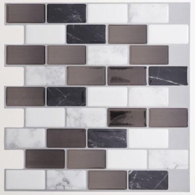 Magic Gel Onyx Marble 9.125X9.125 Self Adhesive Vinyl Wall Tile - 1 Tile/0.75 Sq Ft.
