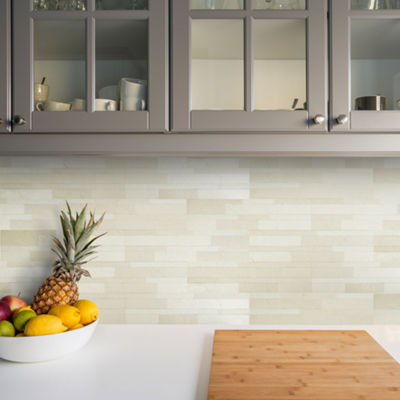 Bolder Stone™ 6In X 24In Self Adhesive Stone Wall Tile - Alabaster - 6 Tiles/6 Sq Ft.