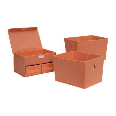Neu Home Foldable Multi- Drawer Org./Tote 3-Pc