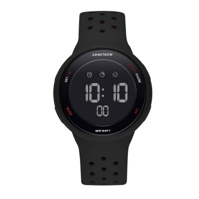 Armitron Armitron Prosport Unisex Black Strap Watch-40/8423brd