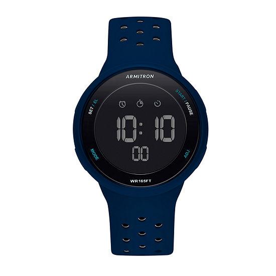 Armitron Armitron Prosport Unisex Blue Strap Watch-40/8423nvy
