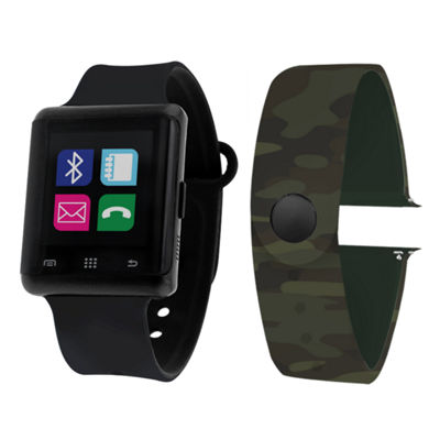 Itouch Air Interchangeable Band Set Black / Camo Unisex Multicolor Smart Watch-Jcp5552b724-Bca