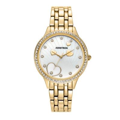 Armitron Womens Gold Tone Bracelet Watch-75/5571mpgp