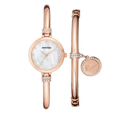 Armitron Womens Rose Goldtone 2-pc. Watch Boxed Set-75/5581mprgst